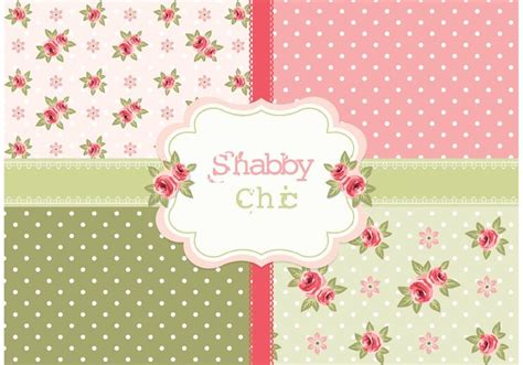 free vector shabby chic roses patterns download free