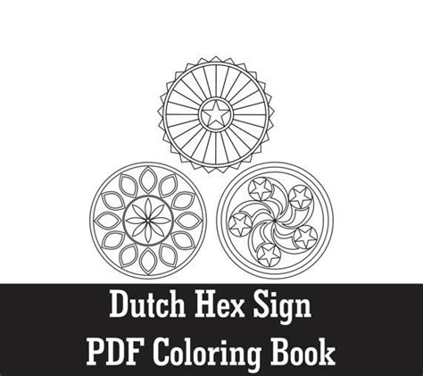 color pattern hex dutch hex sign coloring pages vol i pdf coloring by
