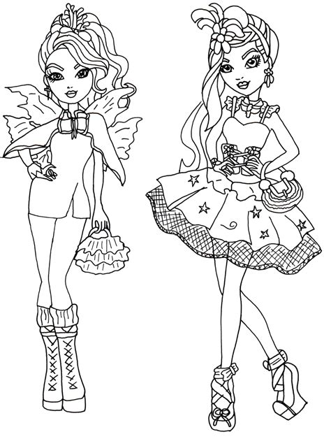 High Coloring Pages To Print Free Printable Ever After  sketch template