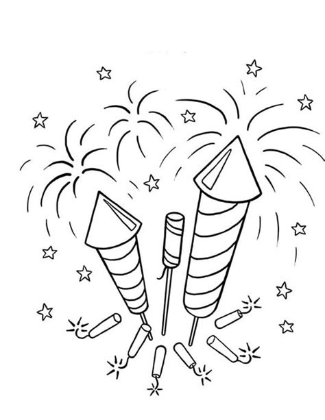 bottle rocket coloring page fireworks coloring pages picture of firecrackers and