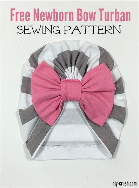 Turban Bow baby bow turban beanie pattern diy crush