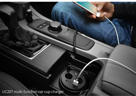 Charger Mobil Hoco Uc207 Multifunction Car Charger With 2 Usb Ports hoco uc207 car cup shape charger 5v 3 1a dual usb black