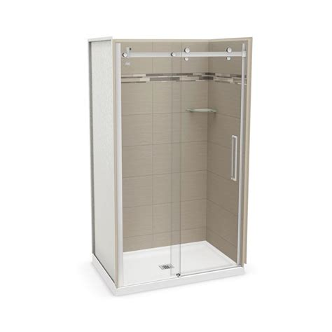 Direct Shower Door Reviews Utile By Maax 32 In X 48 In X 83 5 In Direct To Stud Alcove Shower Kit In Origin Greige With