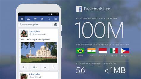 fb lite app facebook lite facebook lite hits 100 million users in 9