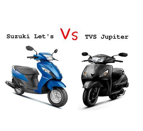Suzuki Scooty Models Suzuki Let S Vs Tvs Jupiter Sagmart