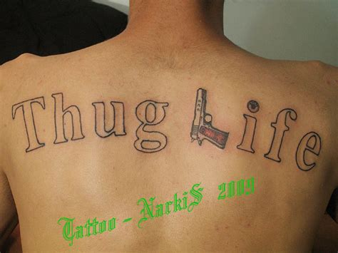 thug life tattoo thug by narkis by narkis79 on deviantart