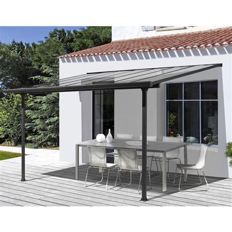 aluminium überdachung terrasse habrita pergola toit terrasse aluminium 3 x 3 m