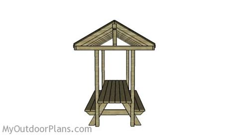 building  picnic table roof myoutdoorplans  woodworking plans  projects diy shed