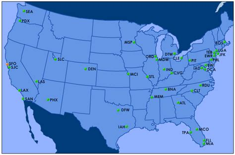 map usa states airports faa airport delay map