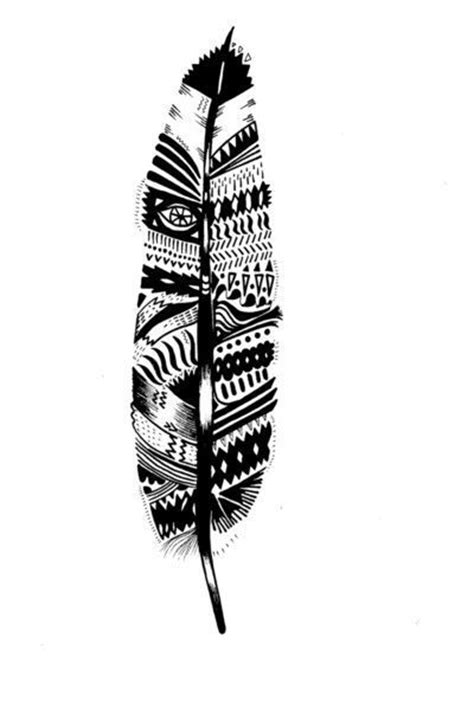tribal pattern feather tribal aztec feather tattoo tattoo pinterest