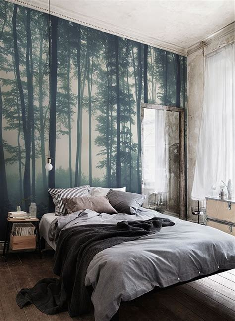 murals for bedrooms sea of trees forest mural wallpaper forest wallpaper