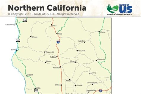 california map northern cities northern california images