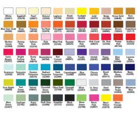 embroidex color chart signature thread color chart images
