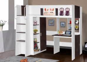 Bunk Bed With Wardrobe Boston Loft Bunk With Single Bed Desk Wardrobe