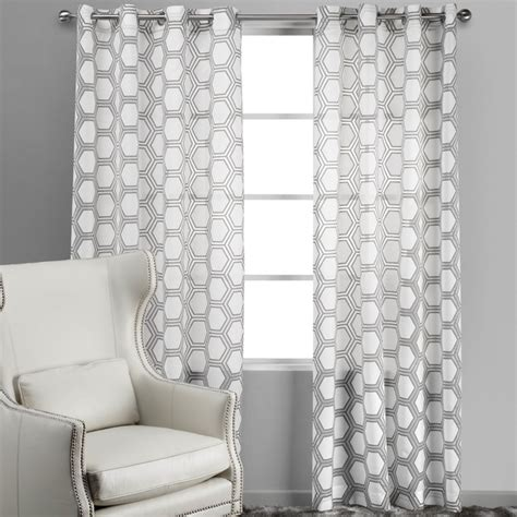 Grey And White Curtains Transitional Armchairs And Accent Chairs