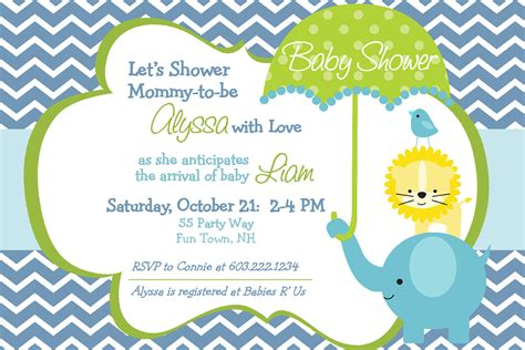 Baby Boy Shower Templates Invitations by Baby Shower Invitations For Boy Baby Shower
