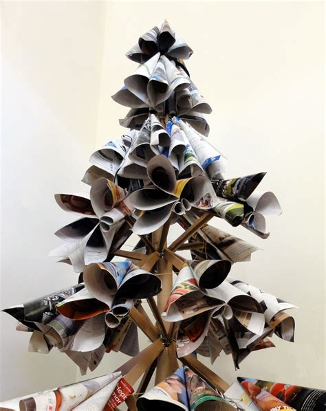 old magazine christmas tree by tai ran tseng