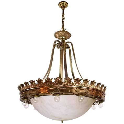 1920s Chandelier 1920s Empire Style Cast Bronze Fifteen Light Chandelier For Sale At 1stdibs