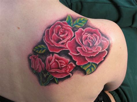 back tattoos roses collection of 25 back shoulder 3d