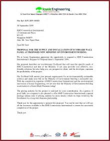 Cover Letter For Construction Bid Sle Letter For A Project Proposalsleletter