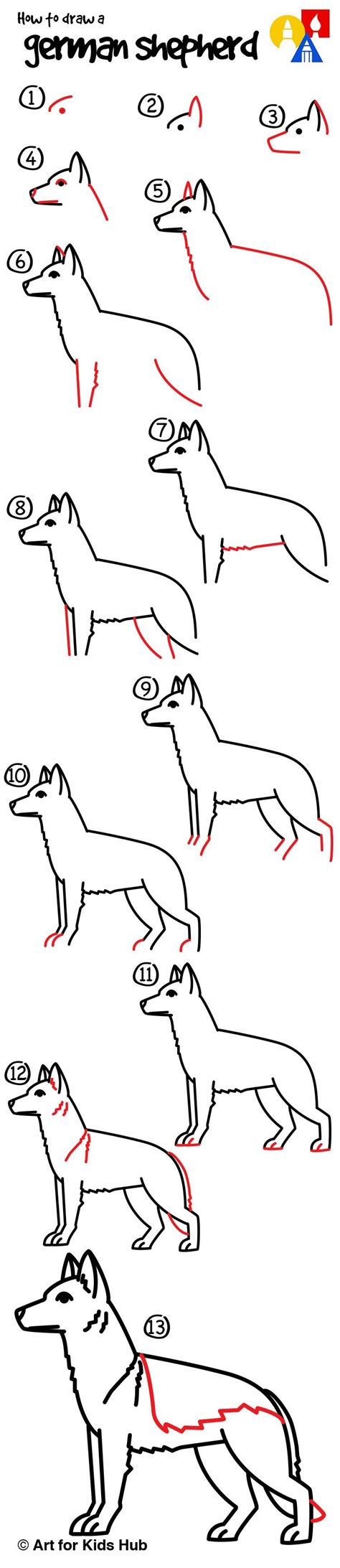 how to german shepherd how to draw a german shepherd for hub german shepherds learning and