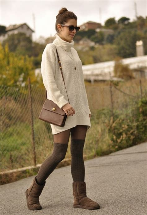 stylish fall outfit ideas    knee socks