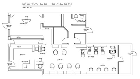 hair salon floor plans sle floorplan salons