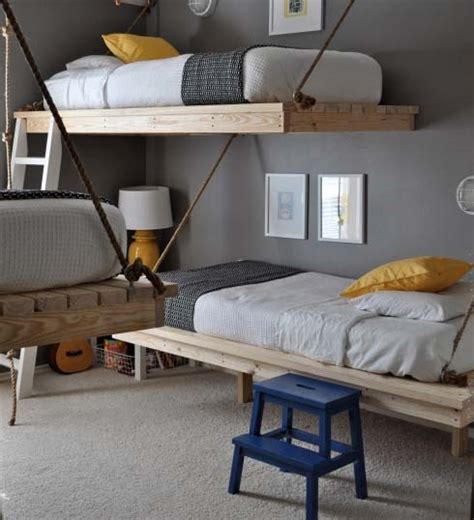 diy hanging beds  stylish boys bedroom designs