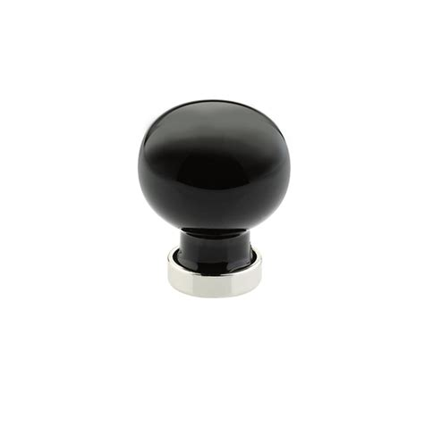 Emtek Glass Knobs by Emtek 86533 Bristol Knob 1 Black 86533 Focal