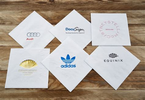 printable paper napkins paper cocktail napkins printed with your logo
