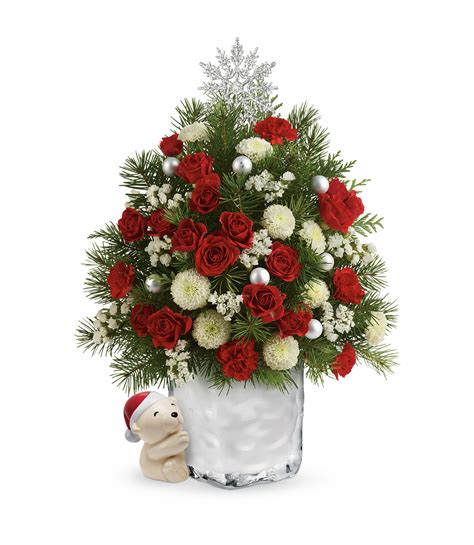 send a hug cuddly christmas tree garden of eden flower