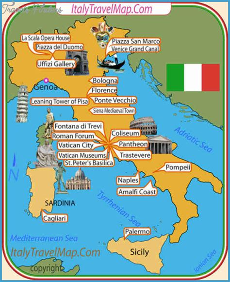 best csites in italy italy map tourist attractions travelsfinders