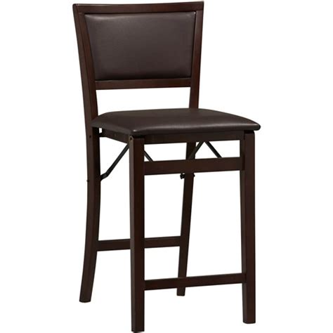 bar stools with backs walmart linon keira padded back folding counter stool 24