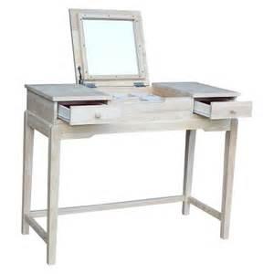 Unfinished Bedroom Vanity Vanity Table Unfinished International Concepts Target