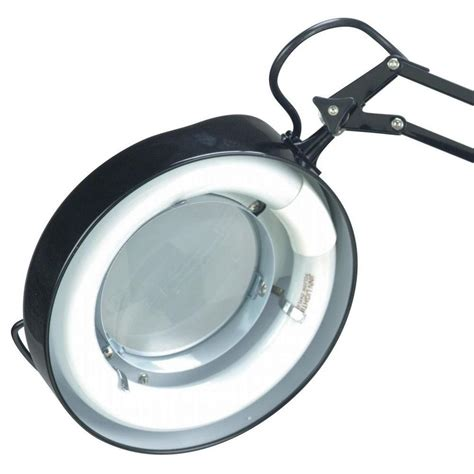 magnifying desk l home depot illumine designer 1 light black magnifier l cli