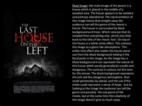 movies like the last house on the left movie poster analysis last house on the left