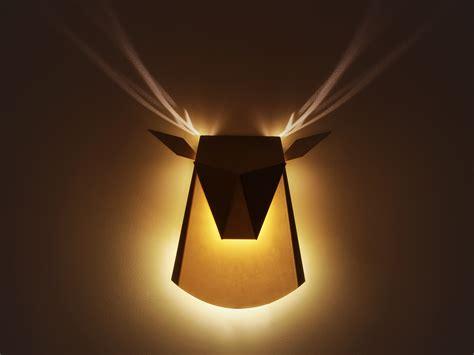 deer head wall light