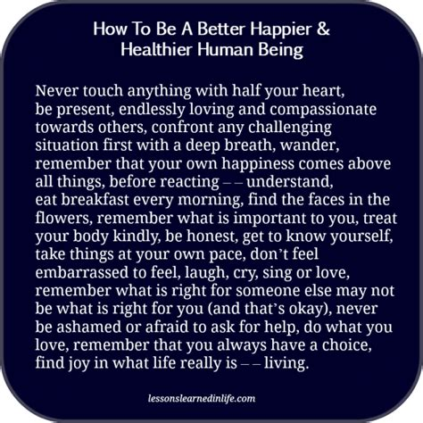 which being human is better lessons learned in lifehow to be a happier healthier human