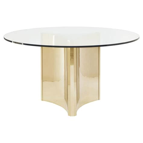 Glass Dining Table Modern Modern Sleek Gold Glass Top Dining Table Kathy Kuo Home