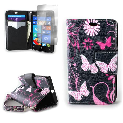 Flip Cover Lumia 435 Pink pink butterfly design wallet pouch cover flip folio for microsoft lumia 435