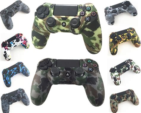 Skin Playstation 4 Ps4 Camo Camouflage 01 aliexpress buy durable camouflage camo silicone gel rubber soft sleeve skin grip cover