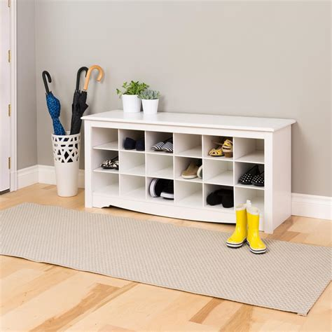 shoe storage bench white prepac entryway shoe storage cubbie bench white wss 4824