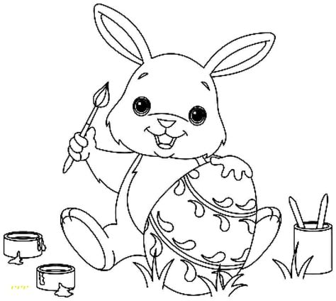 cute easter bunny coloring pages printable beautiful