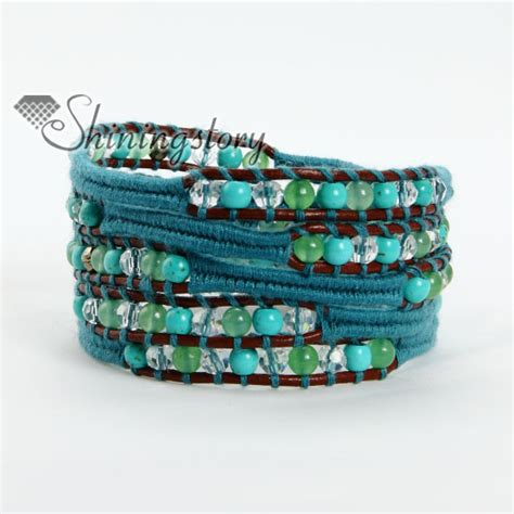 how to make beaded wrap bracelets bead beaded leather wrap bracelets wholesale