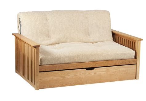 Pangkor 2 Seat Futon Sofa Bed In Oak Futon Sofa Beds Uk