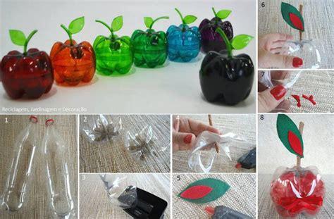 botellas de plastico construccion y manualidades hazlo tu mismo como hacer manzanas de pl 225 stico reciclando botellas