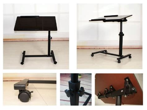 adjustable couch table fantasycart portable laptop notebook rolling table cart