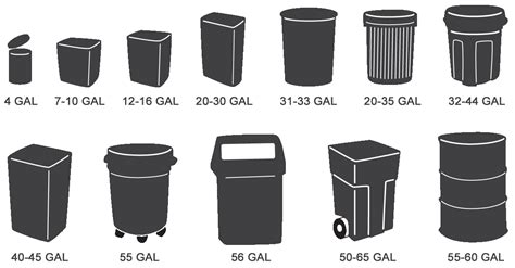 Kitchen Trash Can Sizes by Small Trash Can Sizes 28 Images Galvanized Garbage