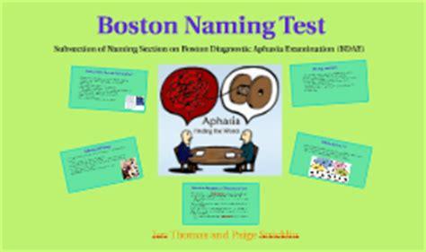 boston naming test italiano boston naming test by on prezi
