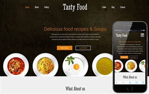 Tasty Food A Hotel Category Flat Bootstrap Responsive Web Template Food Web Template